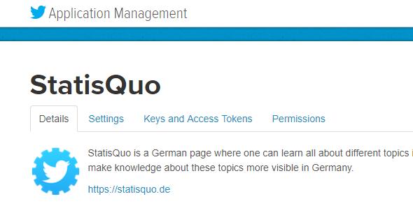Developer-Account Startseite